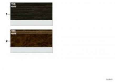 Sample chart Luxury Line interior strips