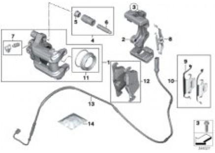 Rear brake / brake pad / wear sensor