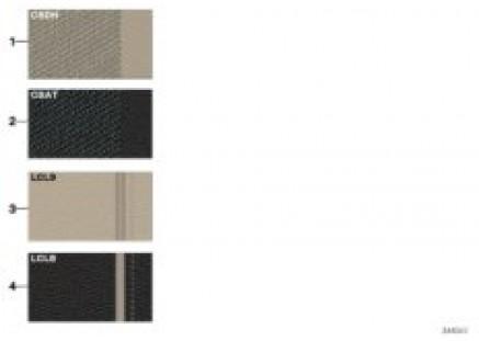 Samples 'Modern Line' upholstery colors