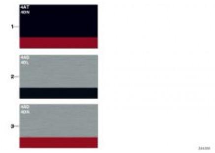 Sample chart, Sport Line interior strips