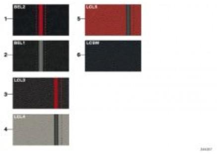 Sample chart Sport Line upholster colors