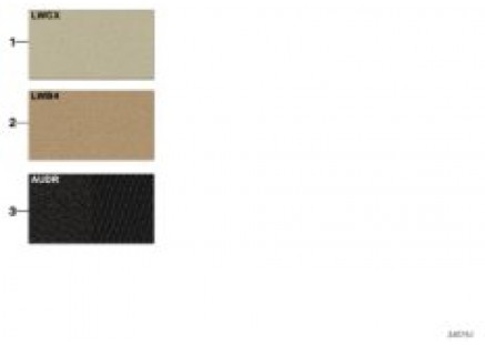 Sample chart with upholstery colors