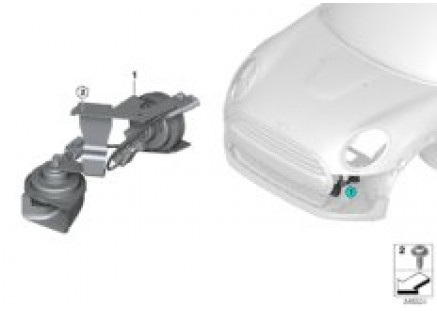 Air horns with bracket, electronic