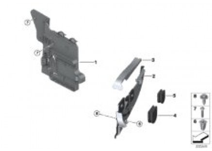 Equipment holder and mounting hardware