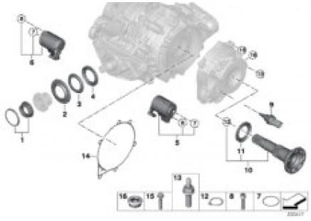 Rear differential QMV single parts