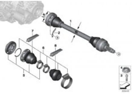 Rear differential QMV output shaft