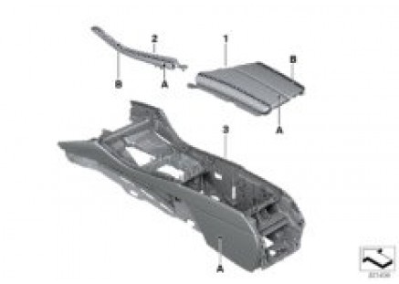 Indiv. center console/Center armrest
