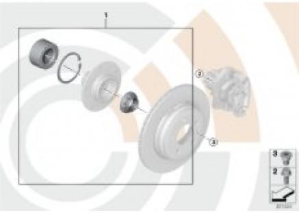 Kit, wheel bearing, rear / Value Line