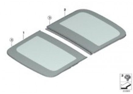 Panorama glass roof glass panel