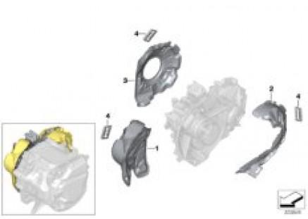 E-drive transmission mounted parts