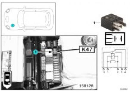 Relay, front fog lamp K47