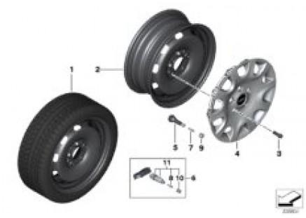 MINI disc wheel in steel - 15''