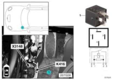 Relay for heated windshield K416