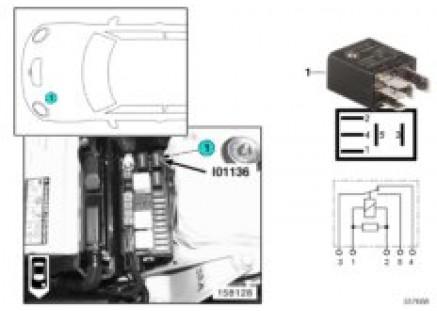 Relay, wiper motor, fast/slow I01136