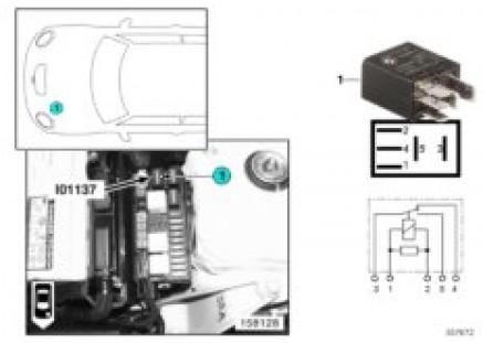 Relay, wiper motor, on/off I01137