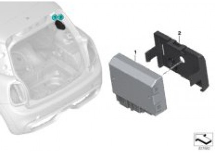 Control unit for rear carrier