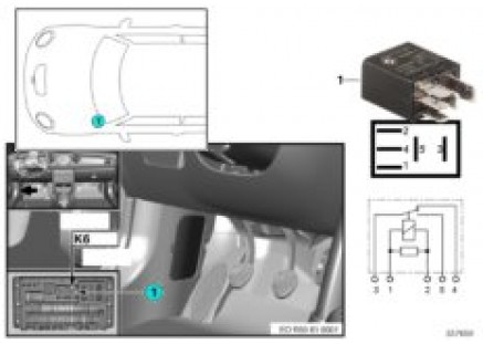 Relay for headlight cleaning system K6
