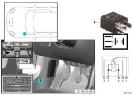Relay, selector lever lockout I01148