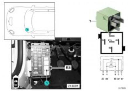 Relay for heater blower K4