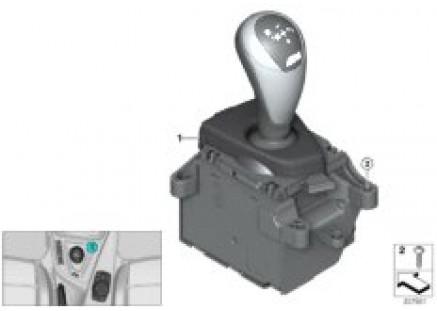 Gear selector switch twin-clutch gearbox