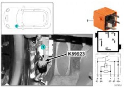 Relay, steering control unit fan K69923