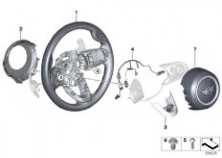 JCW Steering wheel rim, leather