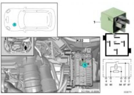 Relay, electric fan 2 motor K22