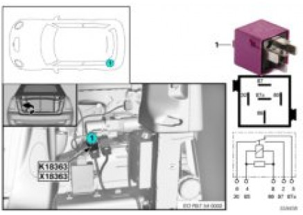 Relay for convertible top 1 K18363
