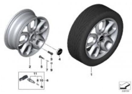 MINI LA wheel Loop Spoke 494 - 16''