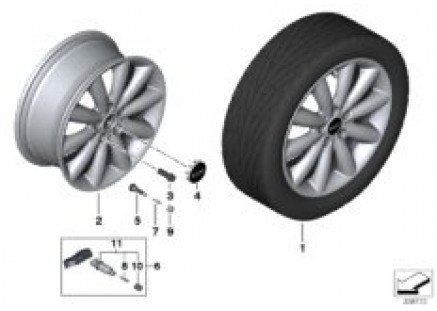 MINI LA wheel Cosmos Spoke 499 - 17''