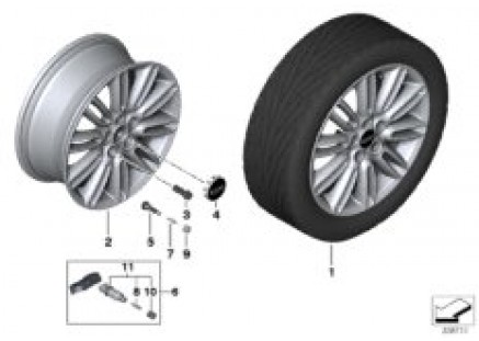 MINI LA wheel Tentacle Spoke 500 - 17''