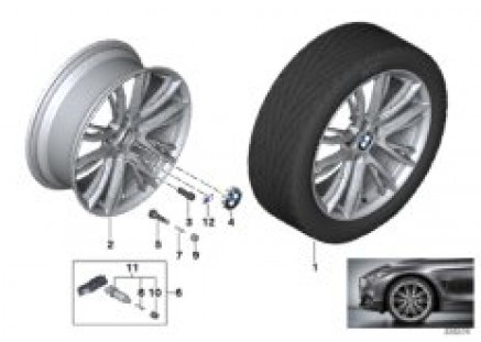 BMW LA wheel M Double Spoke 624 - 19''