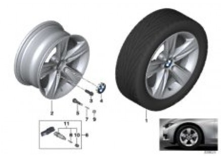 BMW LA wheel Star Spoke 391- 16''