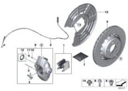 Rear wheel brake