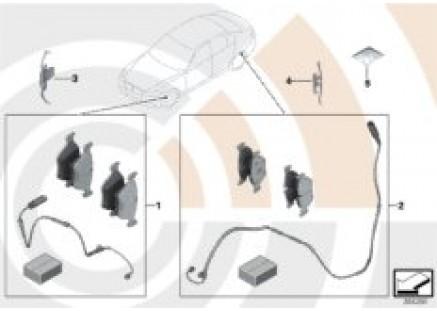 Service Kit for brake pads / Value Line