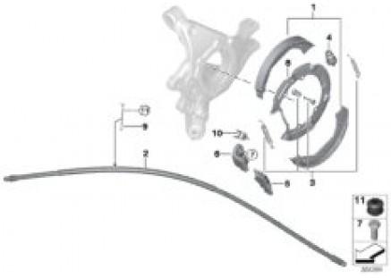 Parking brake / brake shoes