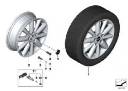 MINI LA wheel Radial Spoke 508