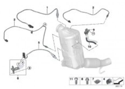 Diesel part.filter sens./mounting parts