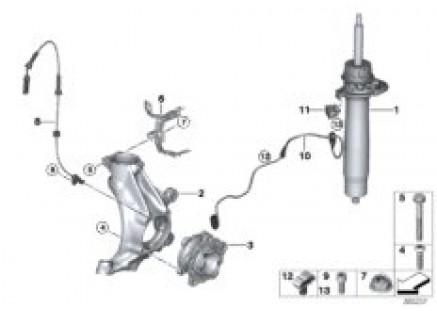 Strut for EDC frt/swivel&wheel bearings