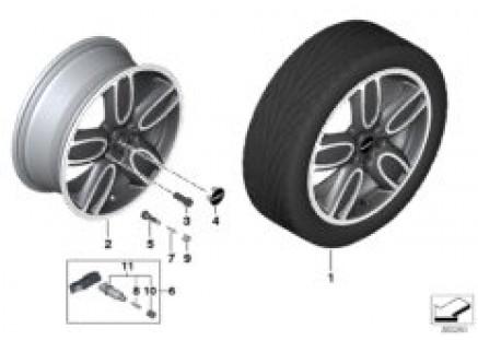 MINI LA wheel Cup Spoke 2-Tone 563-18''