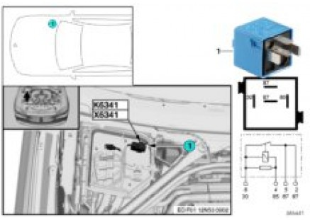 Load-shedding relay, ign./inj. K6341