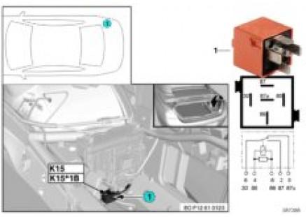 Relay for rear-window drive K15