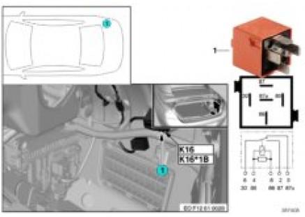 Relay for rear-window drive 2 K16
