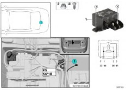 Relay for electric fan 800/1000W K5