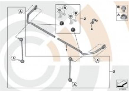 Repair kits for rear stabilizer bar
