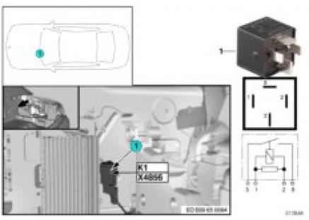 Relay for amplifier K1