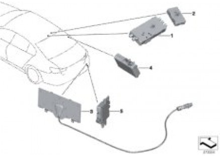 Separate components for antenna system