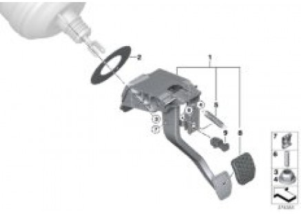 Pedal assembly, dual-clutch transmission