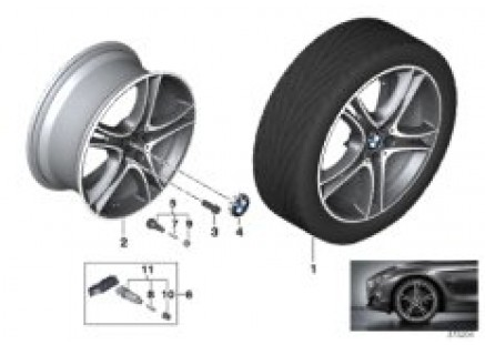 BMW LA wheel Double Spoke 361 - 18''