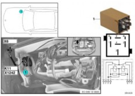 Relay for windshield wiper K11